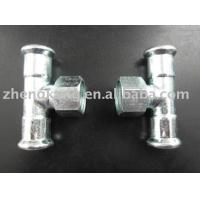 Buy cheap Casting Carbon Steel Press Fittings Galvanizational Female Carbon Steel Pipe Tee from wholesalers