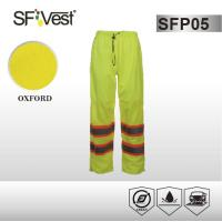 Buy cheap ANSI /ISEA 107-2010 100% polyester fabric  Work Wear Pants Reflective Safety Pants with high reflective tape product