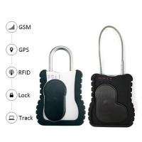 Buy cheap Smart GPS vehicle tracker Waterproof Trcuk GPS Tracking Padlock with long cable remote open lock function from wholesalers