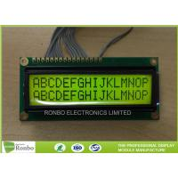 Buy cheap Monochrome Character LCD Module 16 * 2 Dots STN Yellow Green Positive from wholesalers
