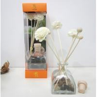 Buy cheap Custom Lavender Fragrance Reed Diffuser with Sola Wood Flower from wholesalers