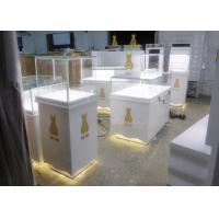 Buy cheap Retail Shop Museum Display Cases High Glossy White Color 12V Output Power from wholesalers