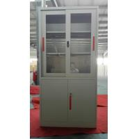 Buy cheap Glass/steel door swing open steel cupboard cabinet Knocked down structure/white from wholesalers