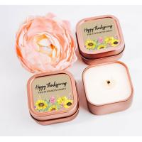 Buy cheap Personalised Hand Poured Scented Tin Candles In Square Tin Can from wholesalers