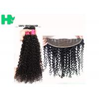 Buy cheap 100% Human Virgin Hair 13*4 Closure Deep Curly With Baby Hair 8-24 inch from wholesalers