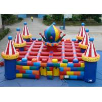 Buy cheap Colourful circus big  inflatable maze sport game outdoor inflatable sport games for sale from wholesalers