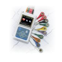 Buy cheap 3-Channel Portable 24 Hour Heart Monitoring Recorder System Holter Patient Monitor ecg cable ECG  TLC9803 from wholesalers