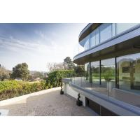 Buy cheap Frameless Aluminum Glass Channel Railings Balcony Balustrade NZS from wholesalers