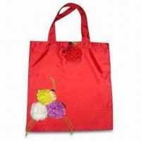 Buy cheap Foldable Red Promotional Shopping Bag, Made of Eco-friendly Material, Customized Designs are Welcome from wholesalers