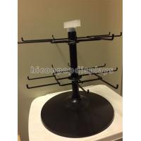 Buy cheap Black 2 - Tier Spinner Rack Display Stand 16 Hooks Swivel Display Rack For Products from wholesalers