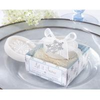 "Buy cheap ""Let it Snow"" Snowflake Soap with gift box packing for wedding favors product"