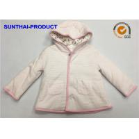 Buy cheap Trendy Toddler Hooded Jacket , 100% Polyester 3 Layers Baby Girl Hooded Jacket from wholesalers