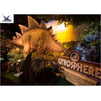 Animatronic Realistic Light Giant Dinosaur Statue For Indoor Decoration