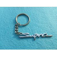 Buy cheap Alphabet Personalised Metal Keyrings , Zinc Alloy Engraved Metal Keychains from wholesalers