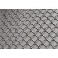 Black Plain Woven Stainless Steel Mesh Conveyor Belt High Strength Chain Edge