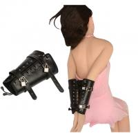 Buy cheap Black Leather Arm Bondage Sex Toys Comfortable For Skin Touch SM Games from wholesalers