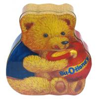 Buy cheap Custom Tin Candy Containers , Bear-Shaped Candy Packaging Box from wholesalers