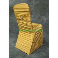 Buy cheap SHIRRED SPANDEX CHAIR COVER  (shirred around &spandex sash with ring ) from wholesalers