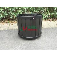 Buy cheap Durable Round Composite Flower Pots , Composite Outdoor Planters Φ390 X 340mm No Painting from wholesalers