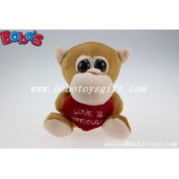 Buy cheap Valentines Day Gifts Big Eyes Toy Series Brown Monkey Animal With Heart Pillow from wholesalers