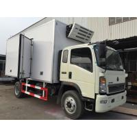 Buy cheap CCC / BV Refrigerated FRP Sandwich Panels Box Truck 95 hp Euro IV for meat and fish from wholesalers