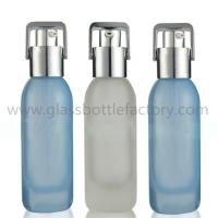 Buy cheap New Items 30ml and 40ml Color Painting Glass Lotion Bottles With Silver Pumps or Droppers from wholesalers