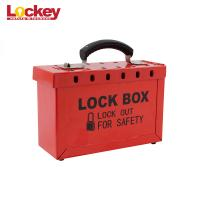 Buy cheap Customized Metal Group Loto Box Portable Lock Out Tag Out Lock Box 12 Padlock Capacity from wholesalers