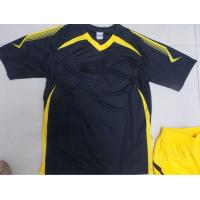 Buy cheap Customized S 100% polyester Soccer Team Apparel Black Soccer t Shirts from wholesalers