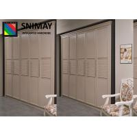 Buy cheap Fashion Bamboo Wardrobe Sliding Door / Aluminum Replacement Wardrobe Doors from wholesalers