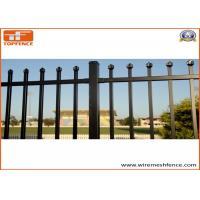 Buy cheap Tubular Steel Fence 25mm x 25mm pailings and 2100mm x 2400mm panels from wholesalers