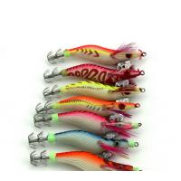 Buy cheap 7pcs Squid Jig 8CM 7G Wood Shrimp Baits Fishing jig Lure #2.0 Wrapped Prawn Octopus Artifi product