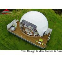 Buy cheap White And Transparent Dome Tent For Greenhouse Diameter 6m B1 M2 CE from wholesalers