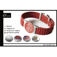 Buy cheap Bio Magnetic Energy Silicone Bracelet Stainless Steel Clasp from wholesalers