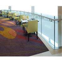 Buy cheap clear toughened frameless balustrade glass for high grade hotel from wholesalers