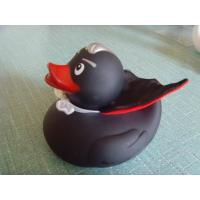Buy cheap Toys Retail Superhero Rubber Ducks , Black Cool Rubber Duck For Promotion Gift Shop from wholesalers
