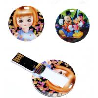 Buy cheap Round Shape Mini USB Business Card Memory Stick 4GB 8GB from wholesalers