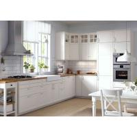 Buy cheap Wood Grain Melamine Board Kitchen Cabinet / Home Modern Wooden Kitchen Cupboards from wholesalers