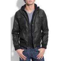 Buy cheap S M L XL Windproof customized Men's fleece lined genuine leather jackets product