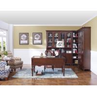 Buy cheap Rubber Wood Home office room furniture bookcase set by Glass door with Shelves from wholesalers