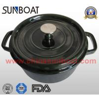 Buy cheap Large capacity big black cast iron enamel stock pot with handle and cover product
