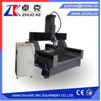 Buy cheap 600mm Z axis 4 axis Stone Carving Machine CNC Router for marbel Granite ZK-1212-5.5KW from wholesalers
