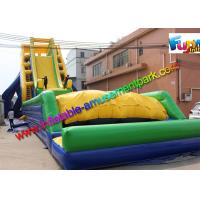 Buy cheap 33.5 x 13.7 Inflatable Water Slide Drop Kick , Air Bag Outdoor Wet Slide from wholesalers