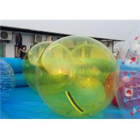 Buy cheap Yellow color 1.0mm PVC Inflatable walk on water balls/water bubble /Human Sphere from wholesalers