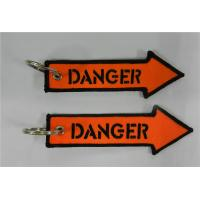 Buy cheap Embroidered DANGER Key Tag/Bag Tag/Zipper Pull from wholesalers
