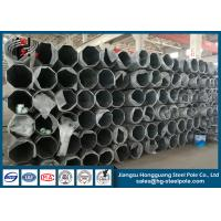 Buy cheap Flange Connected Dodecagonal Galvanized Transmission Line Steel Tubular Pole product