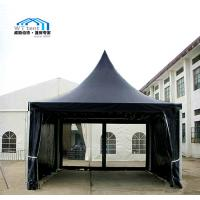 Buy cheap Easy Up Black Pagoda Event Tent , Fireproof Small Pagoda Gazebo Canopy from wholesalers