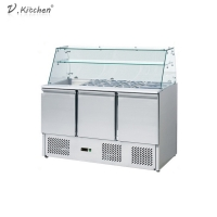 Buy cheap 390L Commercial Refrigeration Equipment 3 Doors Counder Chiller from wholesalers