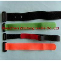 Different size removable hook and loop closure cable ties