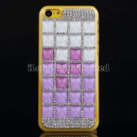 Buy cheap Square Gem Stone Rhinestone Hard Plastic Case For iPhone 5C from wholesalers