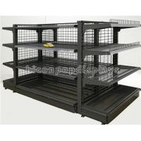 Supermarket Retail Gondola Shelving Black Heavy Duty